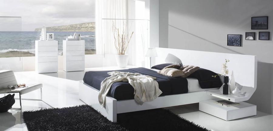 Habitaciones con encanto el loft de lucia for Dormitorio para padres en blanco y negro
